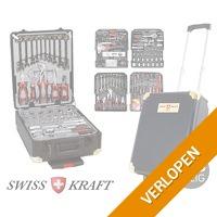 386-delige Swiss Kraft Black Gold gereedschapsstrolley