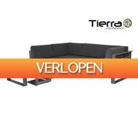 iBOOD Home & Living: Tierra Outdoor Stratos Loungeset 2x Tweezitter + Hocker