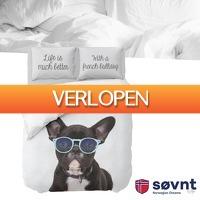 Wilpe.com - Home & Living: Sovnt dekbedovertrek French Bulldog