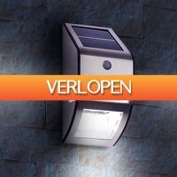 CheckDieDeal.nl 2: RVS solar LED-muurlamp