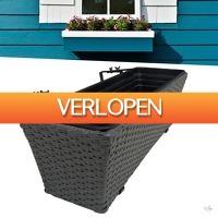 Wilpe.com - Outdoor: Wicker plantenbak