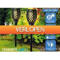 DealDonkey.com: Dreamled Solar tuinlampen met vlam-effect