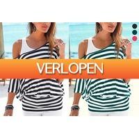 VoucherVandaag.nl 2: Striped off shoulder top