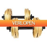 Befit2day.nl: Gouden dumbellset 30 kg Gripper