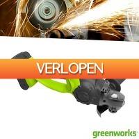 Wilpe.com - Tools: Greenworks Haakse Slijper 24 Volt