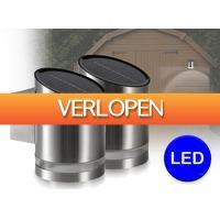 DealDonkey.com 2: 2 x Utah LED solar wandlampje