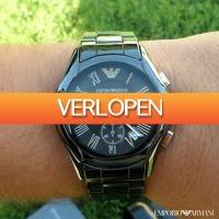 Watch2day.nl: Emporio Armani Ceramica Chronograph Sale