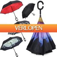 Uitbieden.nl: Regen- en windbestendige omgekeerde paraplu