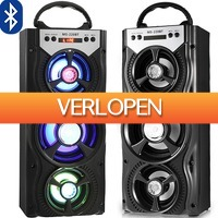 Uitbieden.nl: Draagbare Boombox Bluetooth speaker