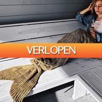 MegaGadgets: Zeemeermin Deken - Mermaid Blanket - 1.95 m - Taupe