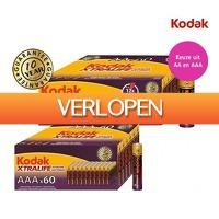 Koopjedeal.nl 2: 60 stuks Kodak Xtralife batterijen (AA of AAA)