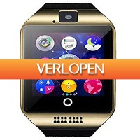 Uitbieden.nl: Q18 Curved HD 2MP Bluetooth smartphonewatch