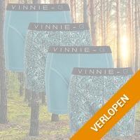 Vinnie-G Leaves Print-Light boxershorts