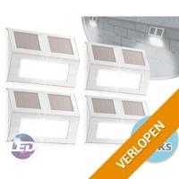 Set van 4 solar LED-buitenlampen