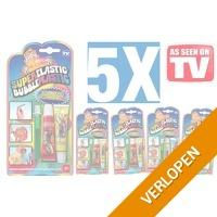 5x Super Elastic Bubble Plastic