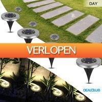 Dealqlub.com: 4 LED grondspots op zonne energie
