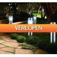 Voordeeldrogisterij.nl: LED solar tuinlampenset San Diego