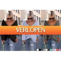 VoucherVandaag.nl: Hippe dames trui met v-hals