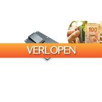 ActievandeDag.nl 1: Creditcardhouder met geldclip