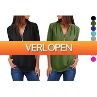 VoucherVandaag.nl 2: Dames blouse met rits