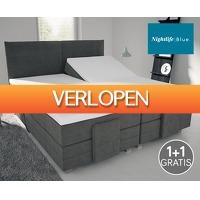 Voordeelvanger.nl: 2 x Nightlife split topper hoeslaken
