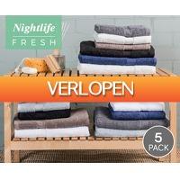 Voordeelvanger.nl 2: 5 x Nightlife handdoeken of badlakens