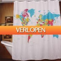 Multismart.nl: Wereldkaart douchegordijn