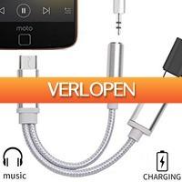 Uitbieden.nl 3: Type C oplaadkabel en 3.5mm audio jack adapter-in-1