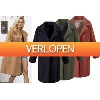 VoucherVandaag.nl: Lange teddy jas