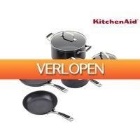iBOOD Home & Living: 5-delige KitchenAid pannenset
