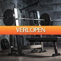 Befit2day.nl: Vlakke halterbank met 100 kg halterset