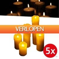 Wilpe.com - Elektra: 5 x LED kaarsen Set