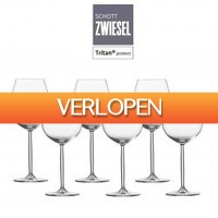 One Day Only: 6 x Schott Zwiesel Diva wijnglazen