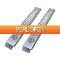 VidaXL.nl: Oprijplaten staal 450 kg - 2 stuks