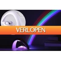 VoucherVandaag.nl: Regenboog LED lamp projector