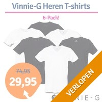 6-pack Vinnie-G heren T-shirts