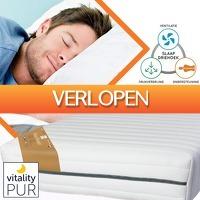 Euroknaller.nl: Vitality Pur traagschuim pocket matras