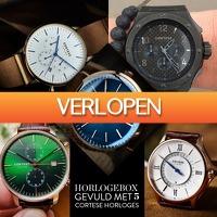 Watch2day.nl: Luxe horlogebox gevuld met 5 Cortese horloges
