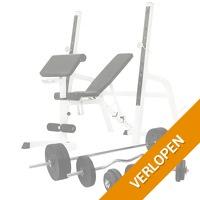 Halterbank/squat rack met halterset
