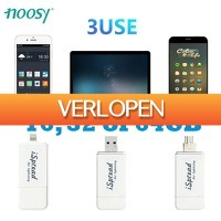 Uitbieden.nl: 3-in-1 Micro-USB, USB 2.0 & Lightning 16,32 of 64 GB Drive