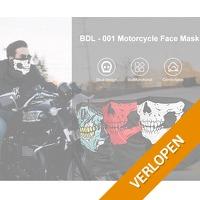 BDL 001 Skull Multicolor face bandana
