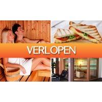 SocialDeal.nl: Entree voor sauna en optioneel 2-gangenlunch