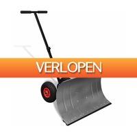 VidaXL.nl: Handmatige sneeuwschuiver met wielen