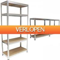 CheckDieDeal.nl: Stevige stellingkast met 5 planken