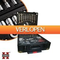 Euroknaller.nl: Herzberg Black Edition 286-delige gereedschapstrolley