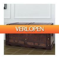 VidaXL.nl: vidaXL dekenkist groot hout bruin