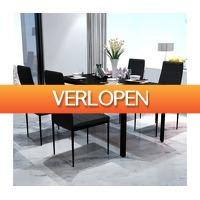 VidaXL.nl: 5-delige eetkamerset