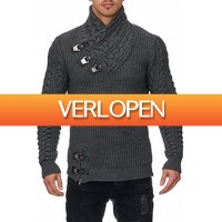 Brandeal.nl Classic: Tazzio trui met opstaande kraag