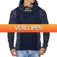Brandeal.nl Casual: Tazzio trui met opstaande kraag