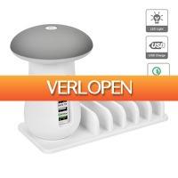 Priceattack.nl: LED oplaadlamp met 5 USB aansluitingen